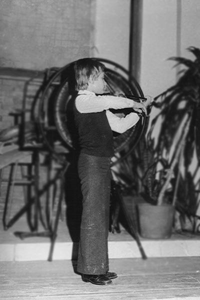 1979. Hegedűvizsga az I.István Gimnázium koncerttermében